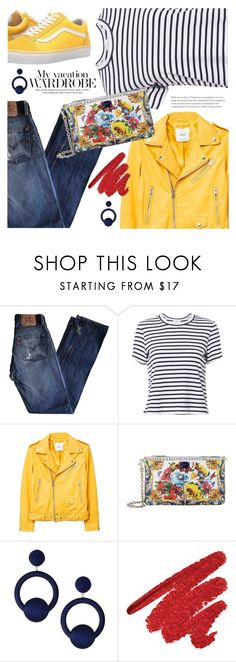 """It's a holiday weekend!"" by jan31 ❤ liked on Polyvore featuring Levi's, A.L.C., MANGO, Vans, Dolce&Gabbana and Rebecca de Ravenel"