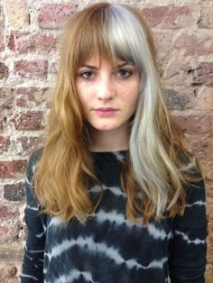 6 really brave things to do with your hair this summer Cruella deVille hair, Bleach London Color Block Hair, Hair Styles 2016, Long Hair Styles, Split Dyed Hair, Hair Streaks, Grey Hair Streak, Cool Hair Color, Edgy Hair Colors, Grunge Hair