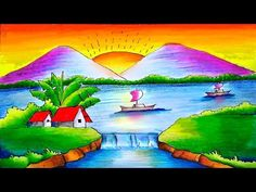 Hello Friends Welcome to Our Channel Friends Our Channel makes videos on different type of Art Media In this Video we show you Oil Pastel Color Media to make. Scenery Paintings, Oil Pastel Paintings, Oil Pastel Drawings, Art Drawings Sketches Simple, Easy Drawings, Beautiful Scenery Drawing, Scenery Drawing For Kids, Landscape Drawings, Abstract Landscape