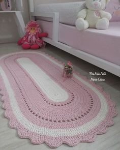 Discount Carpet Runners By The Foot Crochet Doily Rug, Crochet Rug Patterns, Crochet Carpet, Knitting Patterns, Crochet Bobble, Diy Carpet, Rugs On Carpet, Mandala Rug, Fabric Flowers