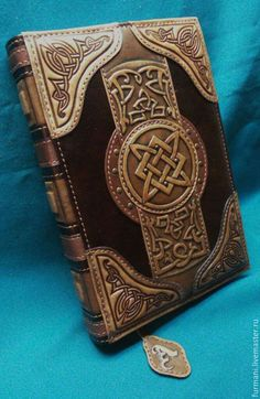 Leather notebook cover Book Of Magic, leather magic cover book, leather embossed notebook cover personalised leather journal covers Leather Carving, Leather Art, Leather Books, Custom Leather, Leather Tooling, Handmade Leather, Leather Jewelry, Leather Book Covers, Leather Cover