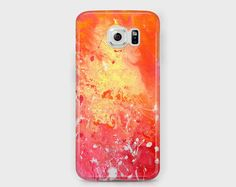 Red and yellow Samsung phone case
