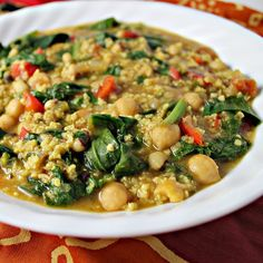 African Curried Coconut Soup with Chickpeas {VEGAN}...Eat.Live.Be. for a Better 2011! - Joanne Eats Well With Others