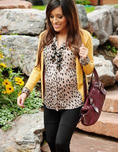 I'm going to need to figure out how to do this outfit with a different color cardigan.