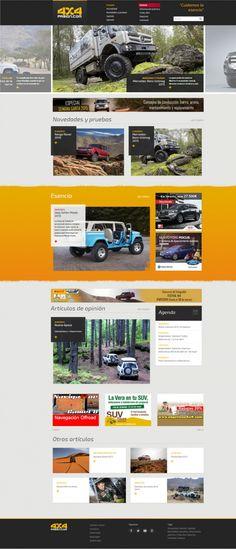 Diseño web revista Online 4x4 pasión | http://4x4pasion.com/