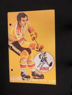 1973 - 1974 WORLD HOCKEY ASSOCIATION VANCOUVER BLAZERS MEDIA GUIDE SPORTS  Sports Uniforms 6d62564c8