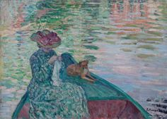 Young Girl in a Boat - Henri Lebasque 1865-1937