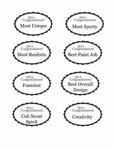 Best Powder Puff Derby Images On Pinterest Pinewood Derby Cars - Car show award categories