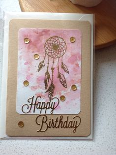 Dream catcher birthday card