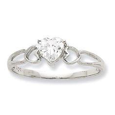 10k White Gold Genuine White Topaz Heart Ring :http://www.stormgems.co.za/product/10k-white-gold-genuine-white-topaz-heart-ring/