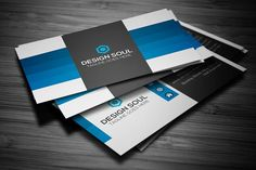 Photography business card by designsoul14 on creativemarket blue business card templates adobe photoshop fully layered psd files easy customizable and editable by reheart Images