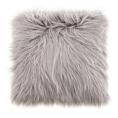 In a light shade of grey, this faux goat fur cushion is fabricated from durable materials with a shaggy pile type, completed by a soft polyester hollowfibre fil. Pink And Grey Cushions, Fluffy Cushions, Grey Throw Pillows, Fur Pillow, Toss Pillows, Accent Pillows, Bolster Pillow, Throw Blankets, Accent Chairs