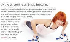Do Active Stretches!