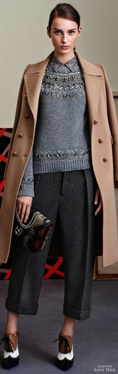 Gucci.                Pre-Fall 2015.        I Really Like The Cropped Pants.