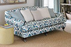 Hempton sofa in Wesley-Barrell, Holika, blue
