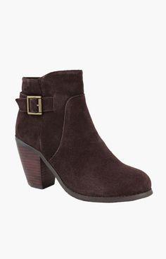 San Jacinto Boot Company Dark Brown Argenta Suede Bootie