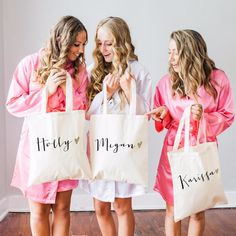 Personalized Glam Tote Bags for the Trendy Bridal Party - Wedding Gifts & Accessories – Z Create Design
