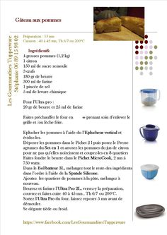 Gâteau aux pommes Tupperware Recipes, Patriotic Party, House Party, Scentsy, Zipper Pouch, Party Games, Cake, Parties, Food