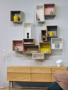 Mini Stacked Wall Hung Shelf System by Muuto
