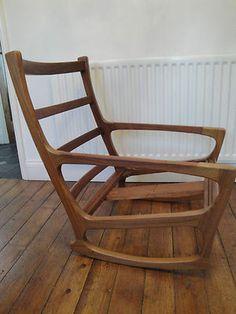 vintage danish rocking chair ingmar relling mcm rocker for westnofa ebay just wish the. Black Bedroom Furniture Sets. Home Design Ideas