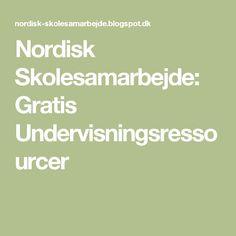 Nordisk Skolesamarbejde: Gratis Undervisningsressourcer