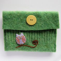 green owl pouch by SesameSeedDesigns, via Flickr