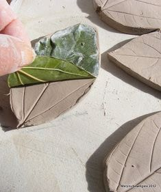How to Make Ceramic Leaf shapes