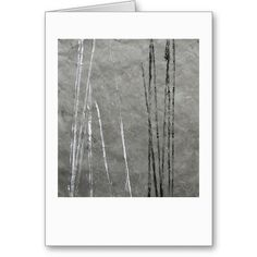 Black & white lines on gray abstract art greeting card by Janine Brown