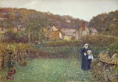 Telling The Bees by Charles Napier Hemy (1841-1917, United Kingdom)