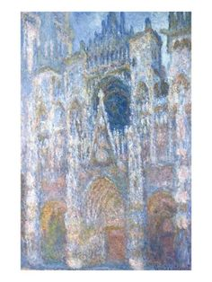 Rouen Cathedral, Blue Harmony, Morning Sunlight by Claude Monet