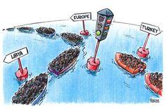 http://ift.tt/22SrVQ8 year 87% of... migrants immigrants immigration migration sea mediterranean mycartoons boat boats refugees refugee syrian refugees syria turkey libya europe European Union union europea mar traffic trafficlight trafficlights traffic light traffic lights