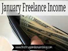 Freelance income I made during the month of January.
