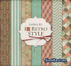 Fondos Retro Verdes y Naranjas   Jumabu! Design Tools - Vectorizados - Iconos - Vectores - Texturas
