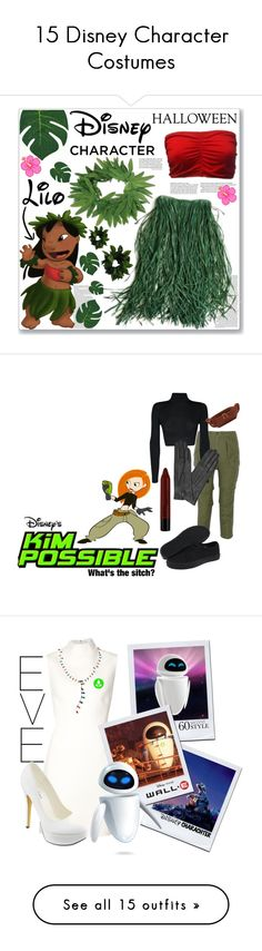 """15 Disney Character Costumes"" by polyvore-editorial ❤ liked on Polyvore featuring Halloween, waystowear, disneycharactercostume, Disney, 60secondstyle, NLST, Vans, WearAll, Osgoode Marley and Dents"