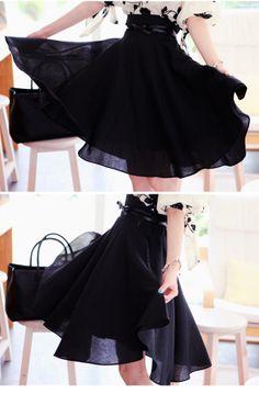 // this black skirt….