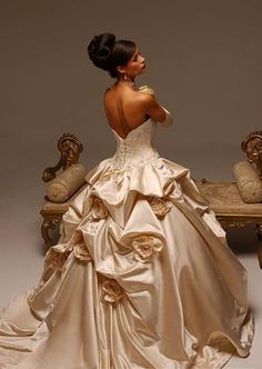 A Line Princess Strapless Chapel Train   wedding dress for brides 2010 style(WDA1120) -This would be a workout to walk in I think.