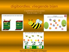 Digibordles: vliegende bijen Doel: Hoeveelheden kunnen vergelijken en ordenen op  meer, minder, evenveel, meeste, minste. Kunnen schatten of er genoeg is.