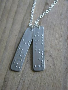 Walk by Faith Not by Sight Braille Pendant by LeafRiverJewelry, $22.00