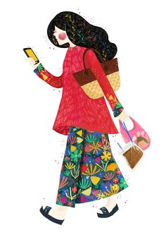 A series of illustration for HelloGold about the people of Malaysia.