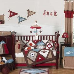 All Star Sports Bedding by JoJo Designs - Sports Baby Crib Bedding for baby boy nursery
