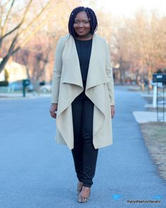 My DIY: Camel Waterfall Jacket   Butterick 6244 Review...