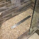 Drain like this Pebble Tile Shower, Pebble Floor, Tub Tile, Pex Plumbing, Bathroom Drain, Steel Pergola, Floor Drains, Modern Shower, Bathroom Design Small