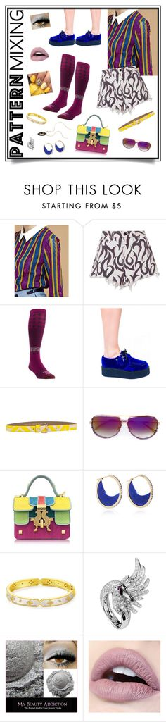 """Mix And Match!"" by dress-n-dysfunktion ❤ liked on Polyvore featuring Alexander Wang, Farm to Feet, Patrizia Pepe, Dita, Giancarlo Petriglia, Noor Fares, Freida Rothman, Boucheron and Lana"