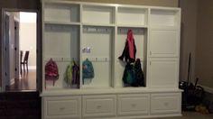 mud room cabinet area!