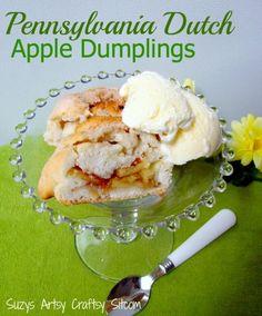 Pennsylvania Dutch Apple Dumplings recipe!  Made from scratch, but surprisingly simple!