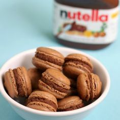 Chocolate macarons with Nutella mousse ((dream)) #macarons #nutella