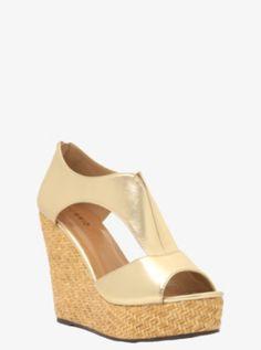 Metallic Woven Wedge Sandals (Wide Width) $43 @ Torrid
