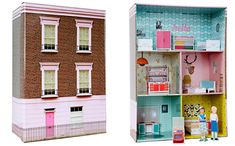 cardboard doll houses to make | This cardboard London dollhouse is the most recent dollhouse from ...