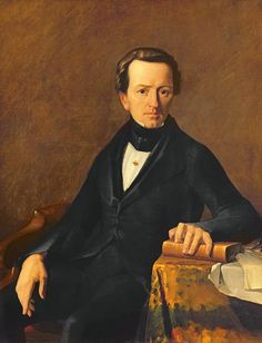 Jean-François Millet - Portrait de Maître Valmont, notaire à Cherbourg (1842)