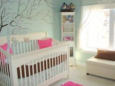 light blue nursery - girl